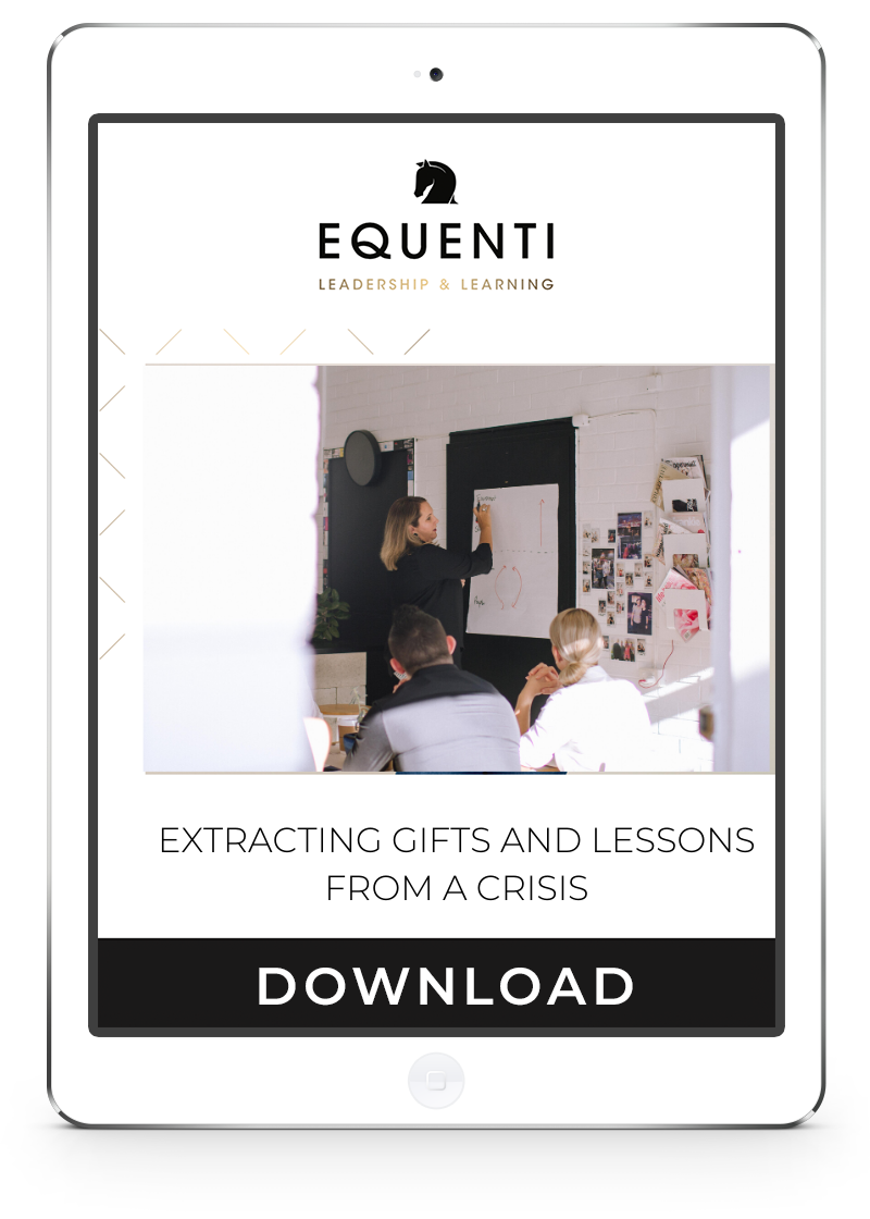 Extracting gifts and lessons from a crisis